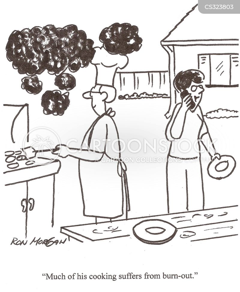 male cooking cartoon