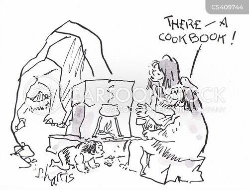 recipe book cartoon