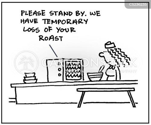 roast meals cartoon