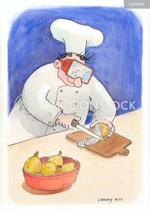 chopping cartoon