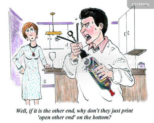 corkscrews cartoon
