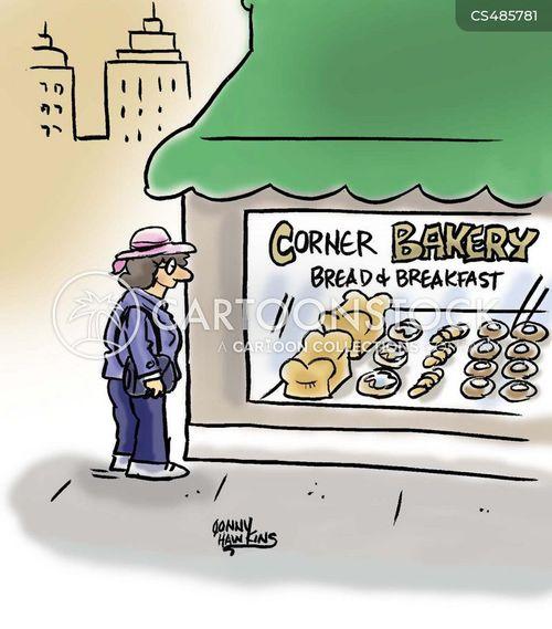 fresh bread cartoon