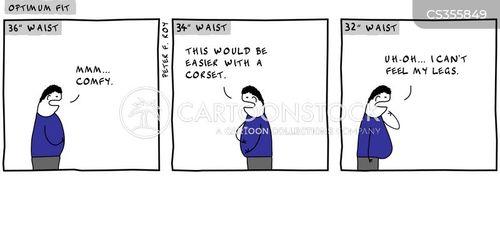 waist sizes cartoon