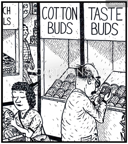 cotton buds cartoon