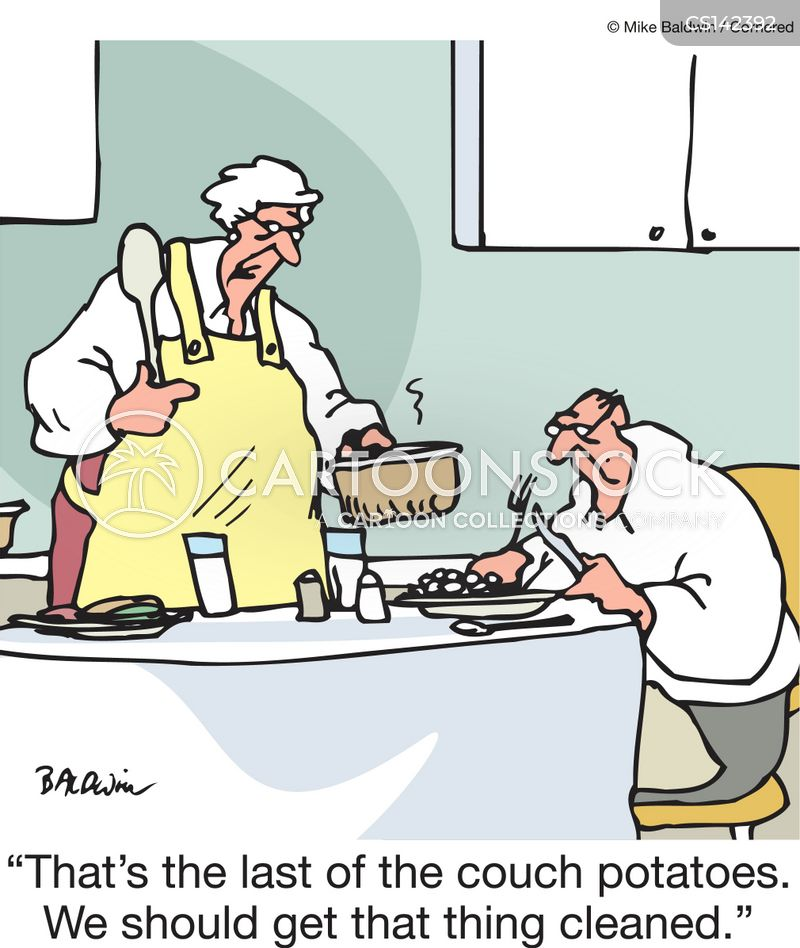 Sedentary Lifestyle: Homecooked Food Cartoons And Comics