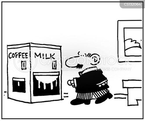 caffeine drinks cartoon