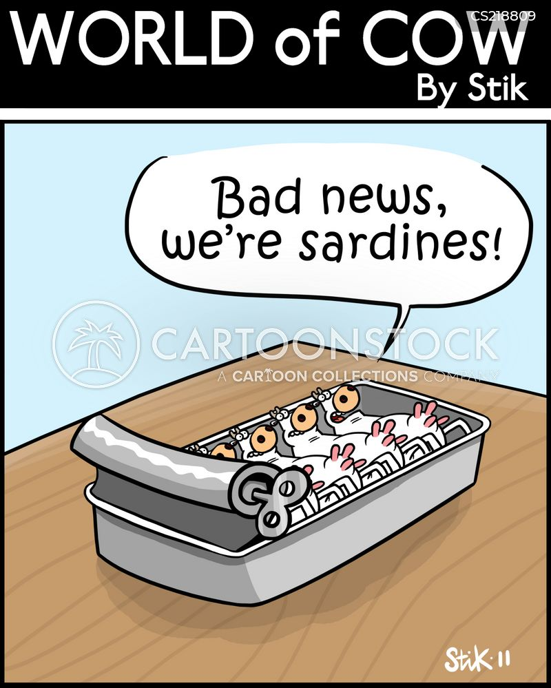 canned fish cartoon