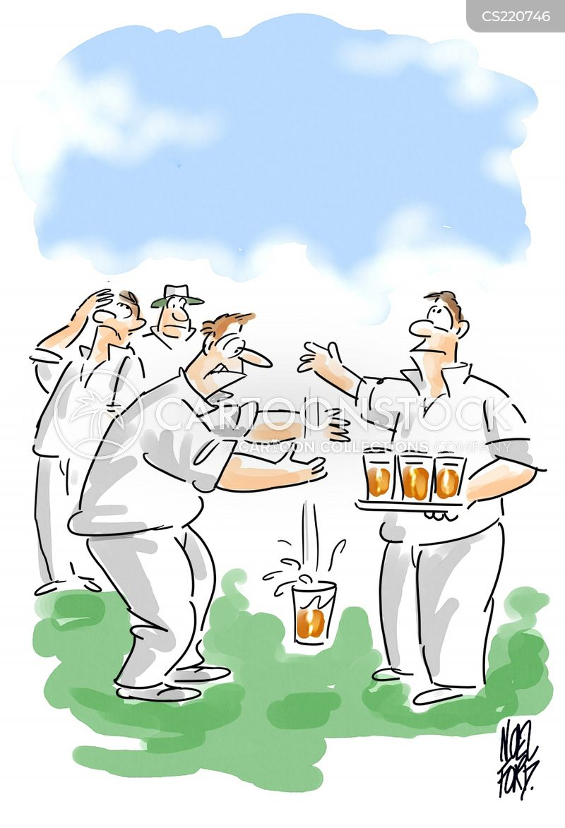 playing cricket cartoon