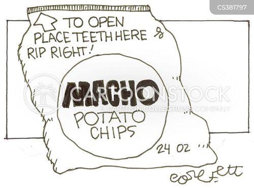 potato crisps cartoon