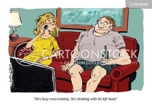 cross-training cartoon