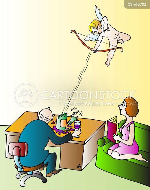 cupids arrow cartoon