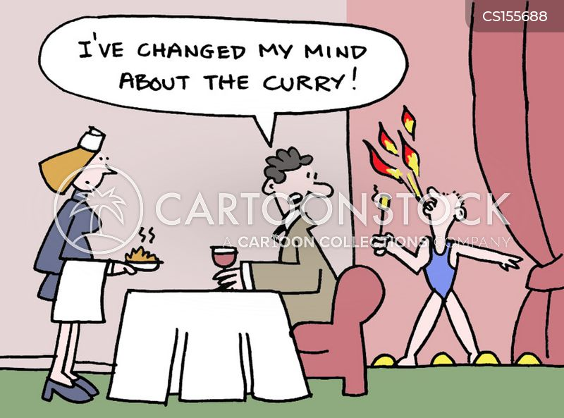 hot food cartoon