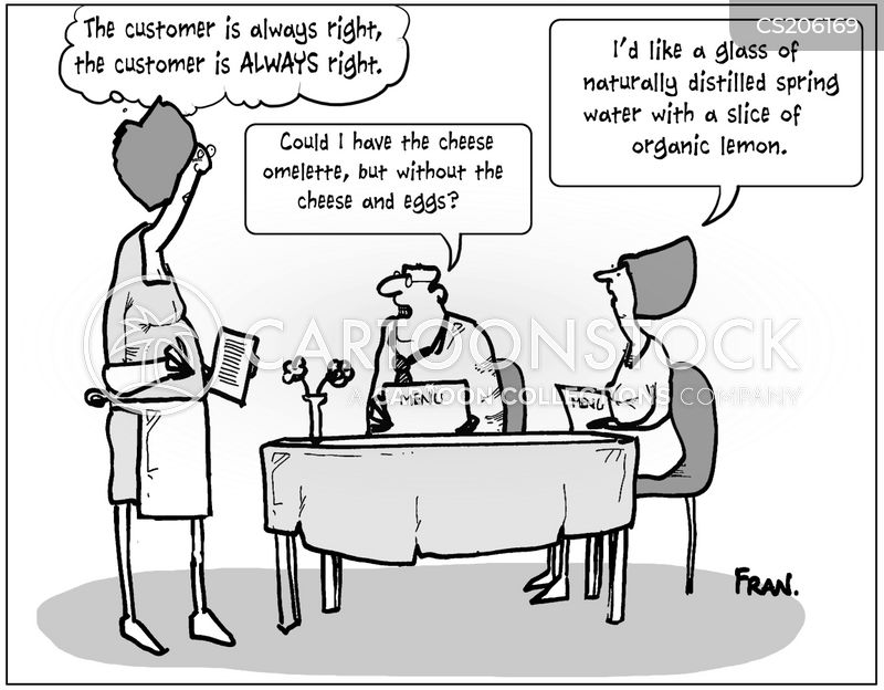 tricky customers cartoon