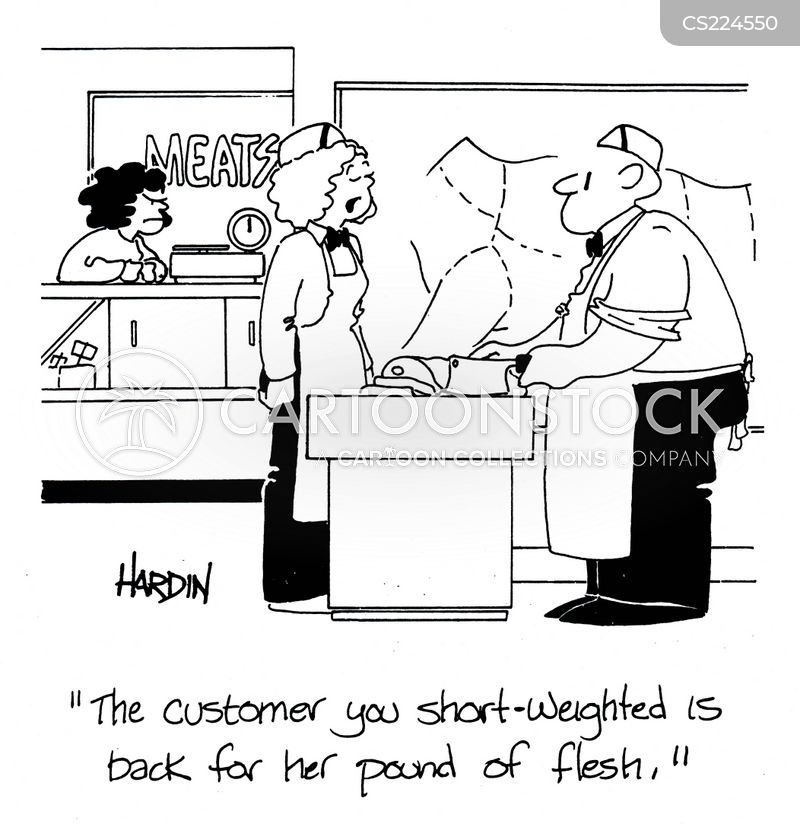 a pound of flesh cartoon