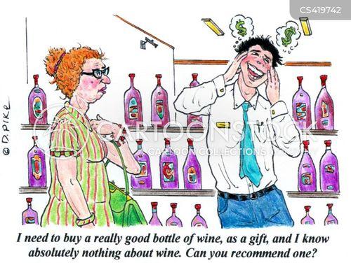 wine stores cartoon