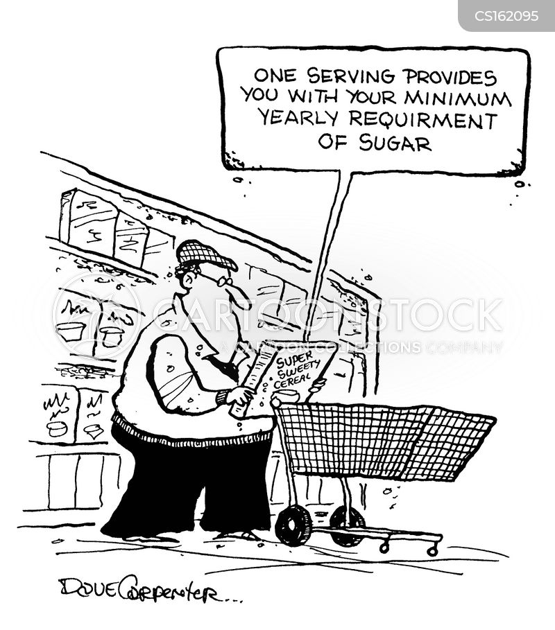 food aisle cartoon