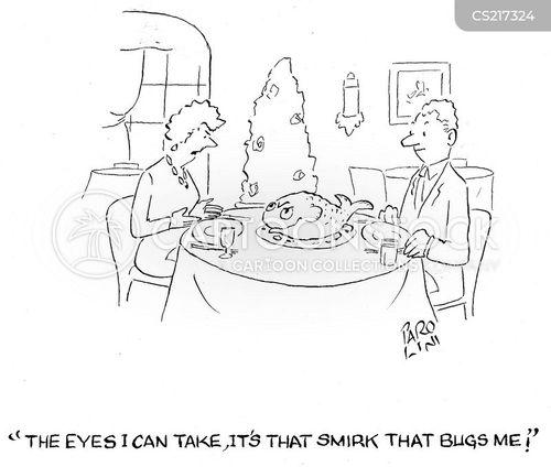 smirk cartoon
