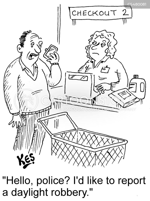 grocery bills cartoon