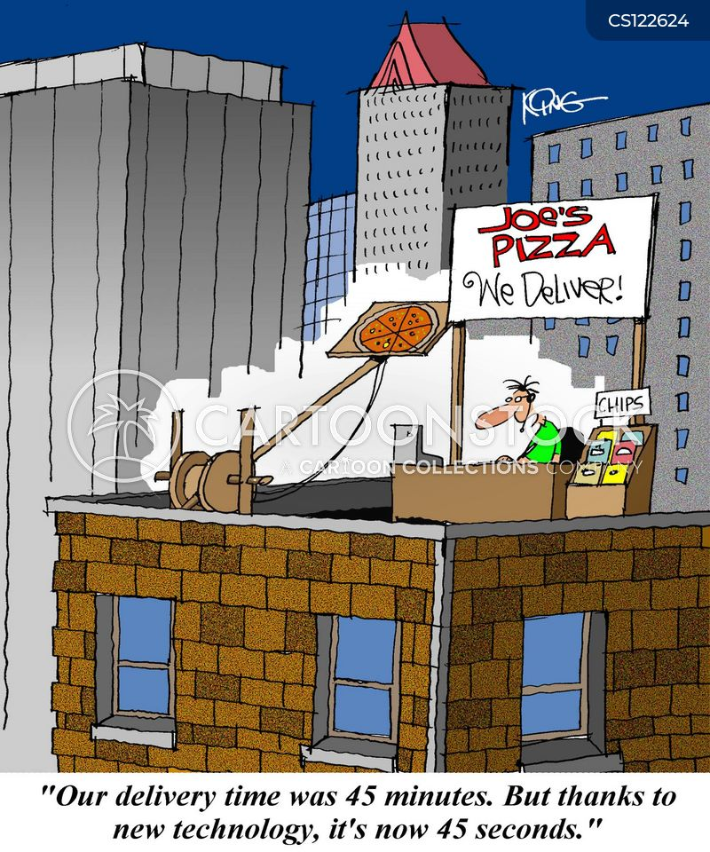 delivery times cartoon