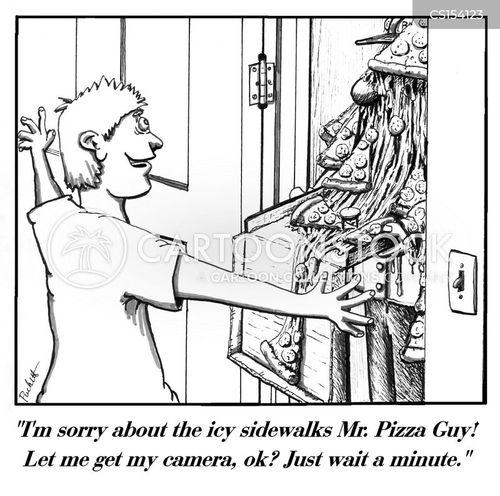 take-out food cartoon