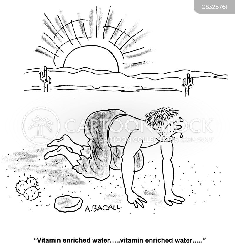 vitamin enriched water cartoon