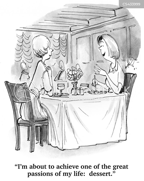 pudding menu cartoon