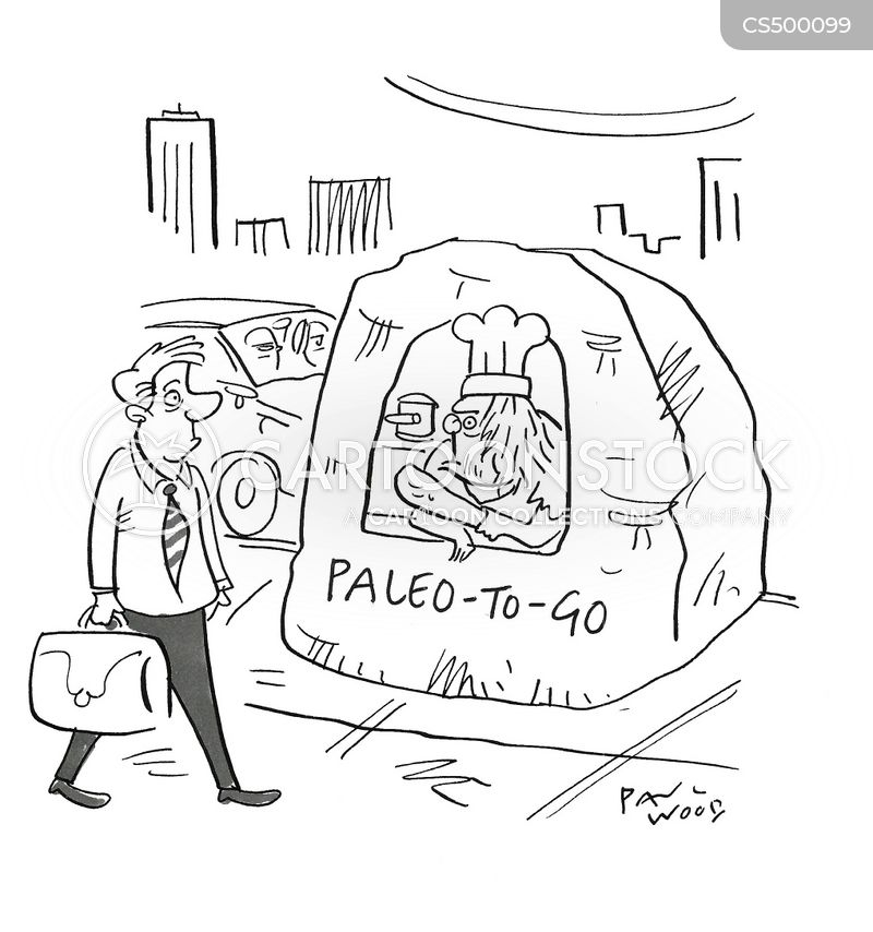 cavemen diet cartoon