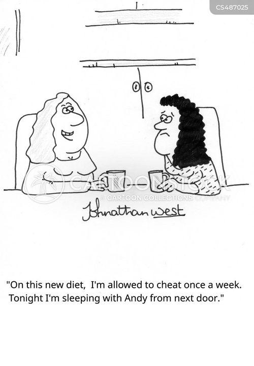 diet cheat cartoon