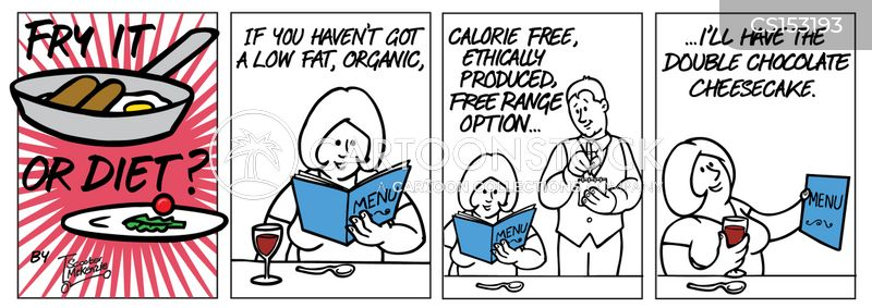 ethical food cartoon