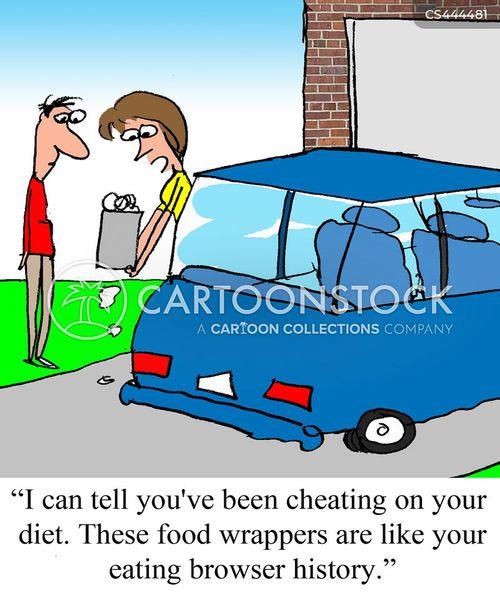 cheating on diet cartoon