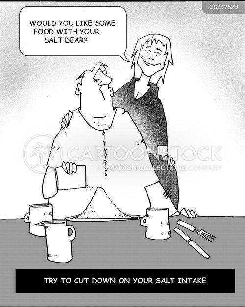 salt intakes cartoon