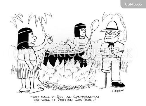 portion control cartoon