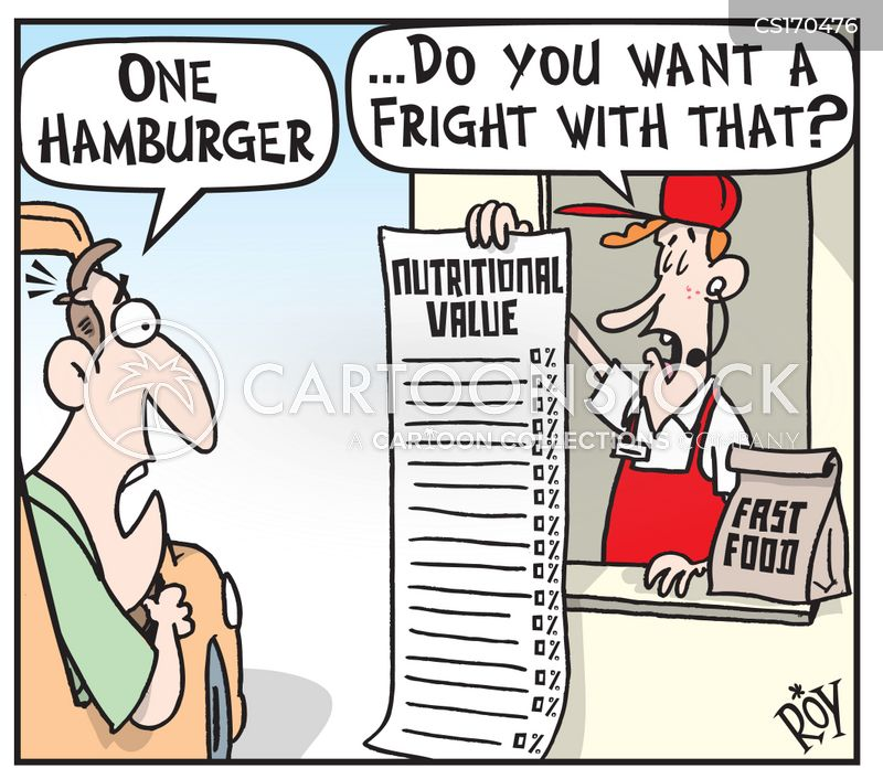 nutritional information cartoon