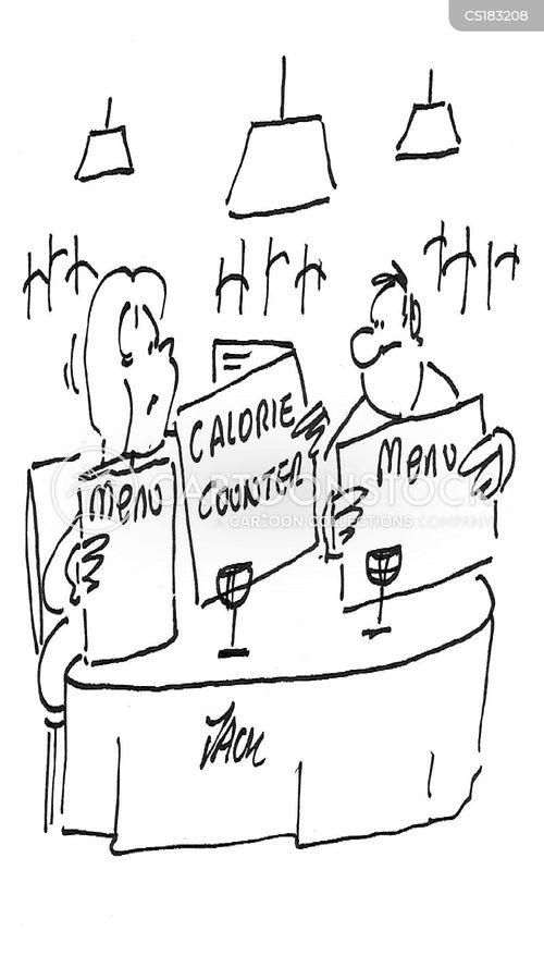 calorie counters cartoon
