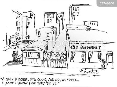 kitchen worker cartoon
