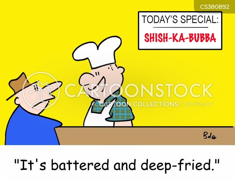 battered cartoon