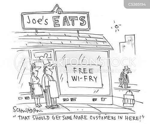 internet cafes cartoon