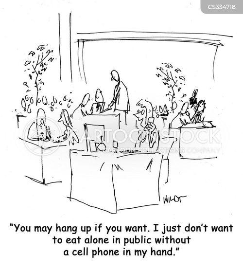 hang-up cartoon