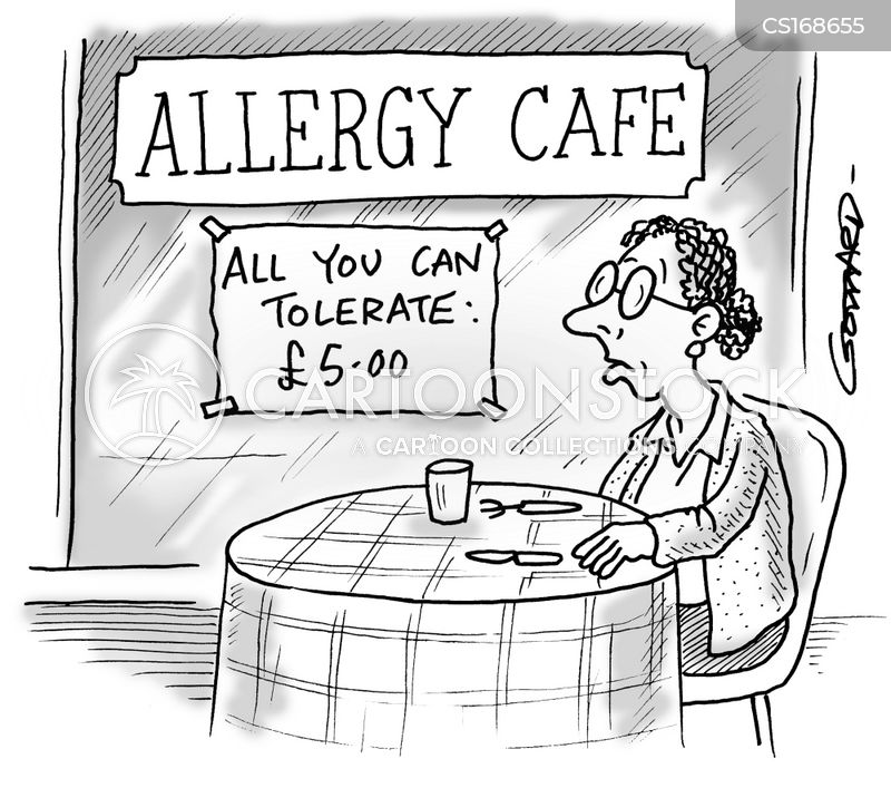 food intolerance cartoon