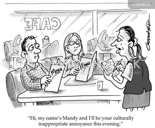 waitres cartoon