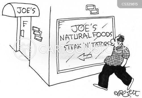 natural foods cartoon