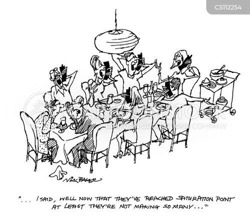 dinner service cartoon