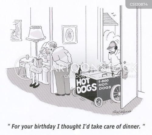 hot dog vendors cartoon