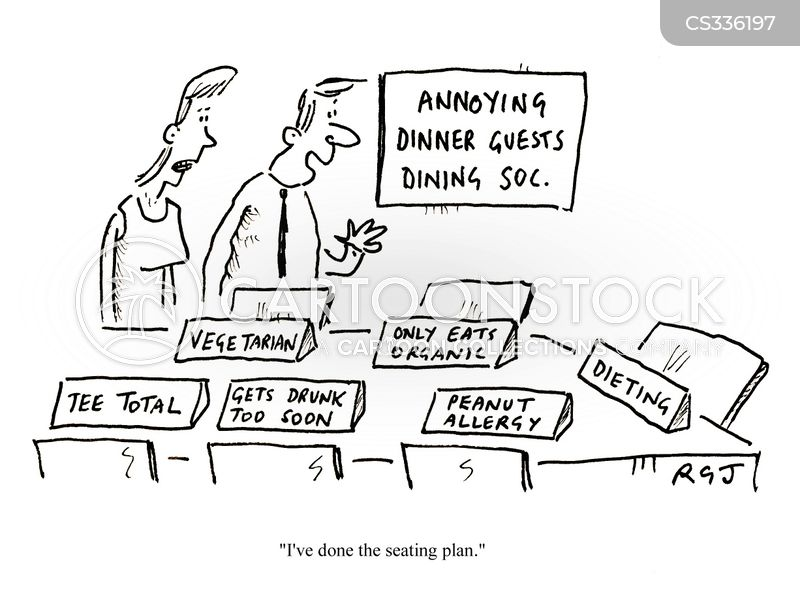 dinner requirement cartoon