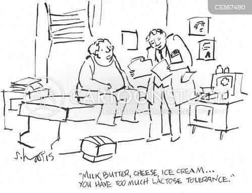 dairy foods cartoon