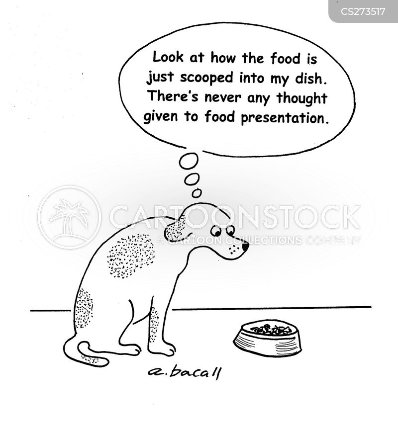 food presentation cartoon