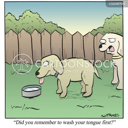 hand-washing cartoon