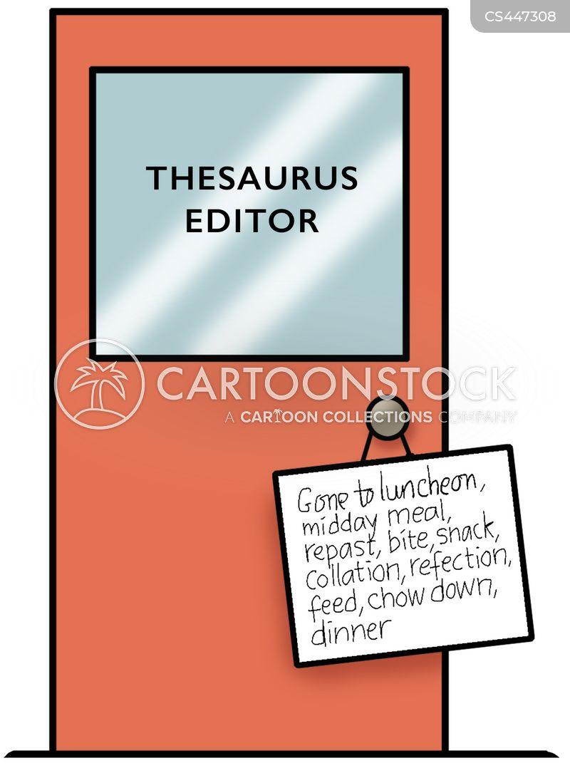 Wordy Sign Hanging on Door of the Thesaurus Editor  sc 1 st  CartoonStock & Glossary Cartoons and Comics - funny pictures from CartoonStock