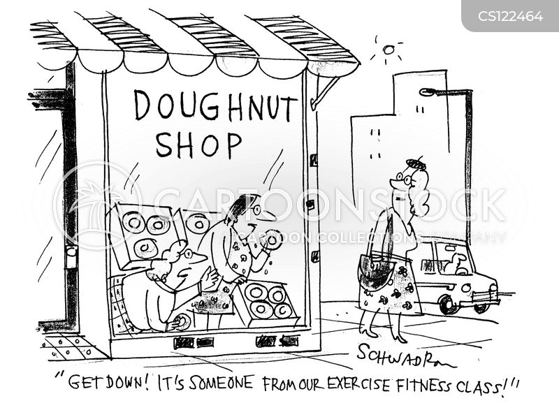 unhealthy foods cartoon