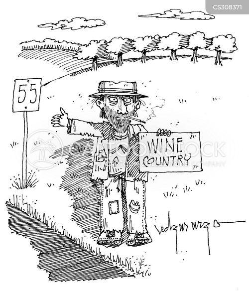 wine countries cartoon